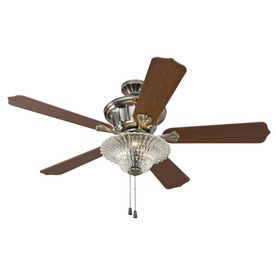 allen + roth 52-in Polished Pewter Ceiling Fan with Light Kit