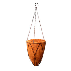 "Garden Treasures - Metal Cone Hanging Basket with Liner, 12"" high x 10"" wide Reviews"