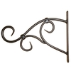 6.88-in Scroll Black Plant Hook