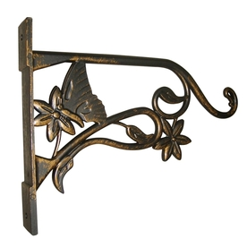 6.5-in Butterfly Black with Bronze Plant Hook