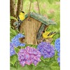 Rain or Shine 40-in x 28-in Hydrangeas & Finches Flag