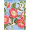 Rain or Shine 40-in x 28-in Hummingbird Hollyhocks Flag