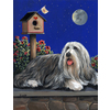 Precious Pet Paintings 18-in x 12.5-in Bearded Collie Moonshine Flag