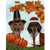 Precious Pet Paintings Precious Pets 12.5-in W x 18-in H Dogs Flag