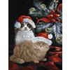 Precious Pet Paintings Cat Christmas Flag