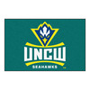 FANMATS 1-ft 7-in x 2-ft 6-in Rectangular NCAA UNC Wilmington Seahawks Accent Rug
