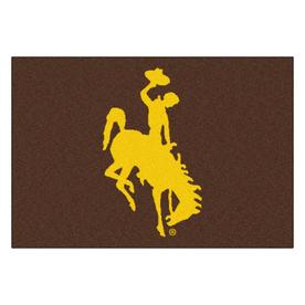 FANMATS University Of Wyoming Multicolor Rectangular Indoor Machine-Made Sports Throw Rug (Common: 1-1/2 x 2-1/2; Actual: 19-in W x 30-in L x 0-ft Dia)