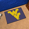 FANMATS West Virginia University Multicolor Rectangular Indoor Machine-Made Sports Throw Rug (Common: 1-1/2 x 2-1/2; Actual: 19-in W x 30-in L x 0-ft Dia)
