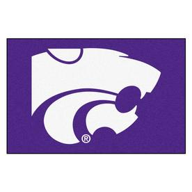 FANMATS 1-ft 7-in x 2-ft 6-in Rectangular NCAA Kansas State Wildcats Accent Rug