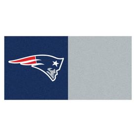 FANMATS 20-Pack 18-in x 18-in Patriots Blue/Red Indoor Cut Pile Peel-and-Stick Carpet Tile
