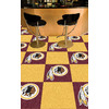 FANMATS 20-Pack 18-in x 18-in Redskins Red/Gold Indoor Cut Pile Peel-and-Stick Carpet Tile