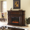 allen + roth 62-in W 4,800-BTU Mink Wood Wall-Mount Electric Fireplace with Remote Control