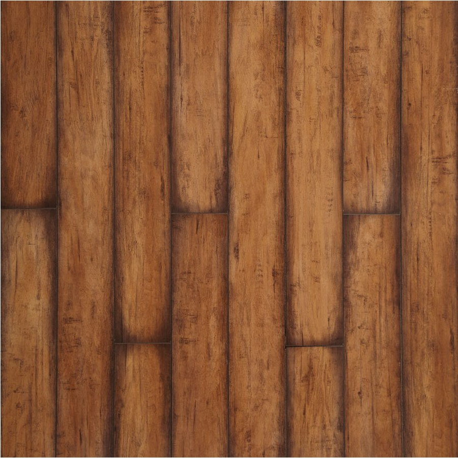 Shop allen + roth 4.92-in W x 3.97-ft L Burnished Autumn Maple Smooth ...