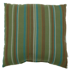 allen + roth Allen + Roth Green Striped UV-Protected Outdoor Accent Pillow