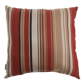 allen + roth Allen + Roth Red Striped UV-Protected Outdoor Accent Pillow