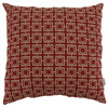allen + roth Allen + Roth Greek Key (Red) UV-Protected Outdoor Accent Pillow