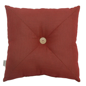 allen + roth Allen + Roth Red Solid UV-Protected Outdoor Accent Pillow