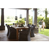 allen + roth Arbormere 86.58-in x 39.38-in Wood Rectangle Patio Dining Table