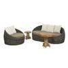 allen + roth Sylvan Park Brown Wicker Cushioned Patio Chair