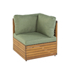 Garden Treasures Hunter Woods Balau Wood Cushioned Patio Chair