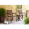 allen + roth Set of 2 Woodwinds Slat-Seat Wood Patio Dining Chairs