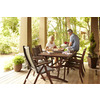 allen + roth Set of 2 Woodwinds Wood Sling-Seat Patio Chairs