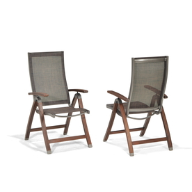 allen + roth Set of 2 Woodwinds Wood Sling Patio Chairs