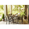allen + roth Woodwinds 86.3-in x 37.5-in Rosewood Wood Extendable Rectangle Patio Dining Table