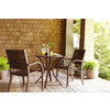 allen + roth Woodwinds 27-in x 27-in Wood Round Patio Dining Table