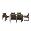 Garden Treasures Set of 2 Canal Point Balau Woven Seat Wood Patio Dining Chairs