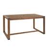 Garden Treasures Canal Point 62.76-in x 34.25-in Wood Rectangle Patio Dining Table