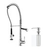 Kraus Chrome 1-Handle Pull-Down Kitchen Faucet with Side Spray