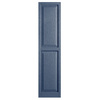 Alpha 2-Pack Blue Raised Panel Vinyl Exterior Shutters (Common: 15-in x 59-in; Actual: 14.75-in x 58.44-in)