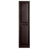 Alpha 2-Pack Chocolate Raised Panel Vinyl Exterior Shutters (Common: 15-in x 59-in; Actual: 14.75-in x 58.44-in)