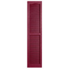 Alpha 2-Pack Berry Louvered Vinyl Exterior Shutters (Common: 14-in x 55-in; Actual: 13.75-in x 54.94-in)