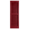Alpha 2-Pack Cranberry Louvered Vinyl Exterior Shutters (Common: 25-in x 14-in; Actual: 24.88-in x 13.75-in)