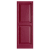 Alpha 2-Pack Berry Raised Panel Vinyl Exterior Shutters (Common: 15-in x 35-in; Actual: 14.75-in x 34.63-in)