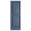 Alpha 2-Pack Blue Raised Panel Vinyl Exterior Shutters (Common: 15-in x 39-in; Actual: 14.75-in x 38.44-in)