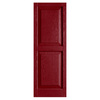 Alpha 2-Pack Cranberry Raised Panel Vinyl Exterior Shutters (Common: 15-in x 47-in; Actual: 14.75-in x 46.5-in)