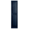 Alpha 2-Pack Royal Raised Panel Vinyl Exterior Shutters (Common: 15-in x 55-in; Actual: 14.75-in x 54.13-in)