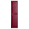 Alpha 2-Pack Berry Raised Panel Vinyl Exterior Shutters (Common: 15-in x 63-in; Actual: 14.75-in x 62.19-in)