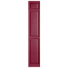 Alpha 2-Pack Berry Raised Panel Vinyl Exterior Shutters (Common: 15-in x 81-in; Actual: 14.75-in x 80.06-in)