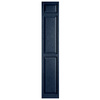 Alpha 2-Pack Royal Raised Panel Vinyl Exterior Shutters (Common: 15-in x 81-in; Actual: 14.75-in x 80.06-in)