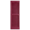 Alpha 2-Pack Berry Louvered Vinyl Exterior Shutters (Common: 14-in x 51-in; Actual: 13.75-in x 51.13-in)