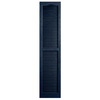 Alpha 2-Pack Royal Louvered Vinyl Exterior Shutters (Common: 14-in x 55-in; Actual: 13.75-in x 54.94-in)