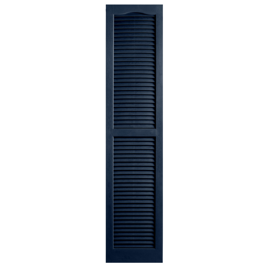 Shop Alpha 2 Pack Royal Louvered Vinyl Exterior Shutters Common 71 In X 14 In Actual