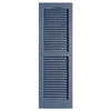 Alpha 2-Pack Blue Louvered Vinyl Exterior Shutters (Common: 14-in x 25-in; Actual: 13.75-in x 24.88-in)