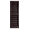 Alpha 2-Pack Chocolate Louvered Vinyl Exterior Shutters (Common: 14-in x 25-in; Actual: 13.75-in x 24.88-in)