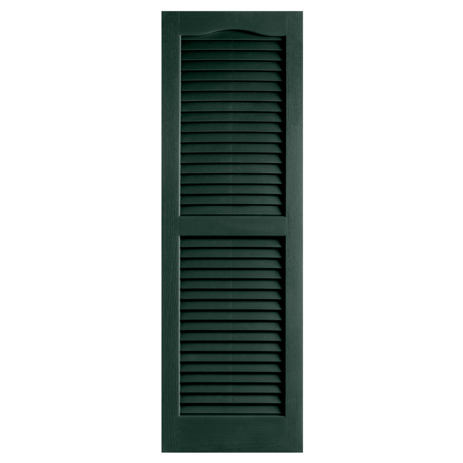shop alpha 2 pack pine louvered vinyl exterior shutters