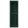 Alpha 2-Pack Pine Louvered Vinyl Exterior Shutters (Common: 25-in x 14-in; Actual: 24.88-in x 13.75-in)